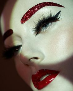 Red Glitter Eyebrows                                                                                                                                                                                 More