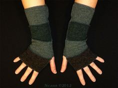 <3 Short Reversible Lambswool Arm Warmers   $ 18.00