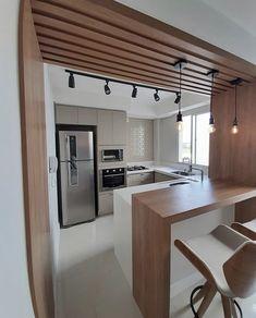 Modern Kitchen Design, Interior Design Kitchen, Kitchen Furniture, Furniture Design, Home Remodel Costs, Building Concept, Humble Abode, Cool Kitchens, Home Remodeling