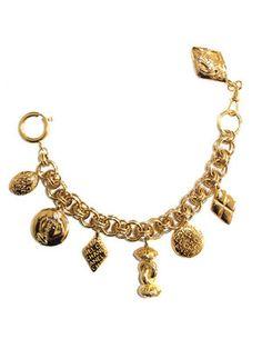 80's Chanel charm bracelet