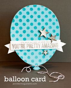 Big single balloon card #balloon by Jennifer McGuire using brand New Exclusives by Simon Says Stamp  balloon stars