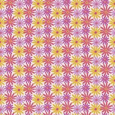 """Daiseez in Icy Pink-""""Fiesta"""" colorway-Cirque de Millefiori Collection-by Mary Tanana. #fabric #quilt #sew #craft #design"""
