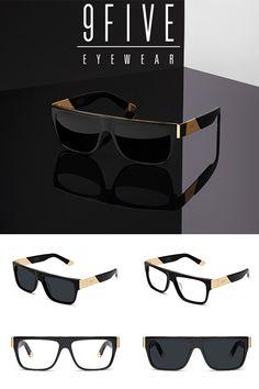 3dd37e8524 9FIVE 22 Black   24k Gold Sunglasses