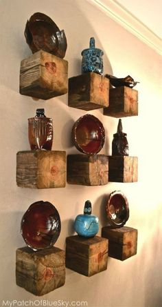 s 17 surprising shelving ideas you would never have thought of, shelving ideas, Cut up a wood post