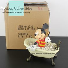For more information check out the extended gallery at our collectibles webshop. Favorite Cartoon Character, Looney Tunes, Cartoon Characters, Toy Chest, Walt Disney, Bathing, Mickey Mouse, Gallery, Check