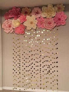 Fondo de flor de papel