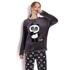 9ebaba94d5 Thick Warm Flannel Pajamas Sets Winter Women Two Piece Pajama Set Cartoon Female  Sleepwear Home Clothing Women s Pajamas Suit