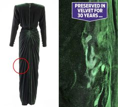 Shown here for the first time are what historians believe to be William and Harry's tiny handprints preserved in the fabric of one of Diana's favourite dresses – three decades after she first wore it.