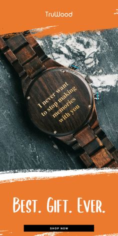 Tru Wood watches are the perfect gift for any Celebration! Commemorate an anniversary, retirement, graduation, holiday or birthday with a custom, engr. Gifts For Hubby, Bf Gifts, Boyfriend Anniversary Gifts, Diy Gifts For Boyfriend, Love Gifts, Gifts For Him, Great Gifts, Diy Christmas Gifts, Holiday Gifts