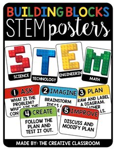 STEM/STEAM Classroom Posters for Bulletin Boards and Classroom Decor