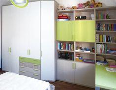 Libreria cameretta ~ Camerette per i più grandi armadio e libreria con zona studio