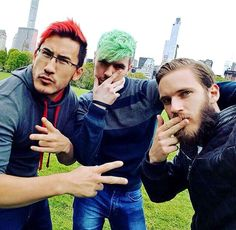 Mark Jack and pewds. now all we need is cry and you have all my heros