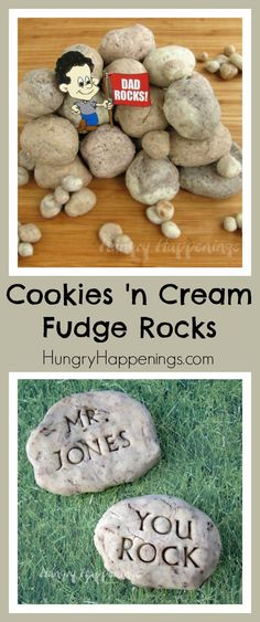 Show your dad you think he rocks with these Edible Fudge Rocks! They are delicious and so easy to make, he won't be able to get enough!