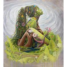 BK The Artist Mother Earth Surreal Portrait Exhibit Black Art, Black Women Art, Art Inspo, Art Amour, Art Et Nature, Nature Pics, Goddess Art, Goddess Of Nature, Earth Goddess