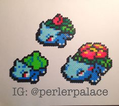 Perler/ Hama/ Fuse Bead Pokemon Starters por PerlerBeadPalace