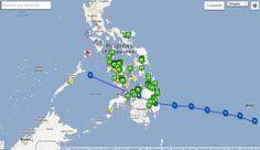 Google mapa de crisis tifón Pablo