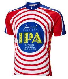 b175b2c0c39 Moab Brewery Johnnys IPA Beer Cycling Jersey by World Jerseys Mens Medium  Short Sleeve   Visit