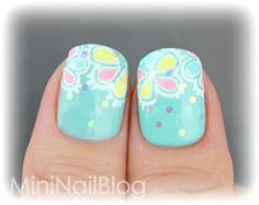 Mini Nail Blog: Colourful Flower Nail Art ☆