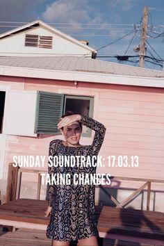 SUNDAY SOUNDTRACK. LISTEN NOW: http://houseofnotoi.re/sunday-soundtrack-17-03-13-taking-chances/