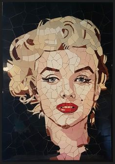 / marilyn mosaic / Mosaic Portrait, Portrait Art, Mosaic Designs, Mosaic Patterns, Abstract Face Art, Paper Collage Art, Mosaic Artwork, Marilyn Monroe Art, Mosaic Projects