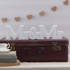 """Dekoaufsteller """"Mr & Mr"""""""