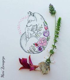 O amor de mãe e filha representado nesta linda arte feita por @mari.zaragoza_tpm #MaeEFilha #Loba #Mulheres #daughter #Mom #Tattoo #Tatuagem #Wolf #Feminino #Love #floral #Tattoo2me #Drawing2me #Boho #Bohotattoo