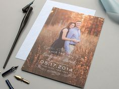 Sophisticate  Elegant Wedding Save the Date by BanterandCharm, $100.00