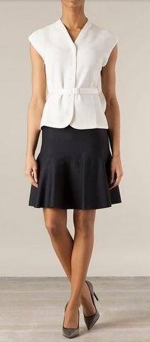 Maison Ullens Black/Blue Pleated Skater Skirt