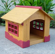 Merry Pet Ice Cream House - Small Wood Pet House *** Details can be found by clicking on the image. (This is an affiliate link) #DogLovers