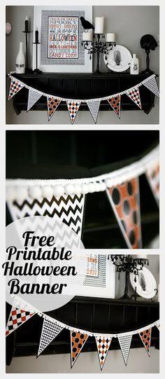 eighteen25: Free Printable Halloween Banner