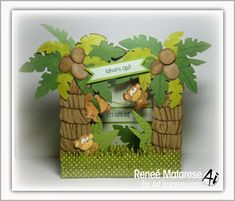 Art Impressions Blog: Jungle Monkeys! Mini Front & Backs by Reneé Matarese