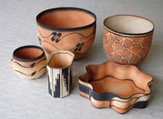 Beate Andersen, bowls in stoneware, own studio Denmark.
