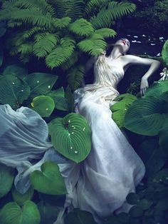 Ophelia Fashion Photography...Rooney Mara, photographed by Mert Alas and Marcus Piggott for Vogue.