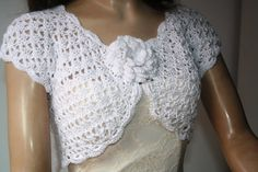 Wedding Bridal Bolero/ Shrug Lace Crochet/ Shrugs by GABRIELAFAUR