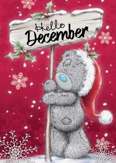 Tatty Teddy Sign Post Personalised Merry Christmas Card Once you've personalised your card or uploaded a photo, and used the handwriting featu , Merry Christmas Card, Christmas Images, Christmas Art, Christmas Ornaments, Xmas, Christmas Pictures To Draw, Tatty Teddy, Teddy Pictures, Bear Pictures