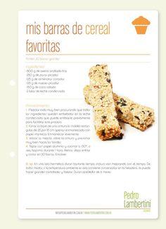 Receta: Pedro Lambertini / Barras de cereal
