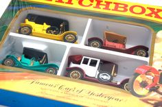Vintage Toys Wanted by the-toy-exchange - A sealed LESNEY MATCHBOX G-5 Models Of Yesteryear 'Famous Cars of Yesteryear' GIFT SET. It comes complete with crisp clean packaging and strong vibrant colours. The box is from old shop stock and still sealed.