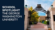 What could be better than being in the country's capital? Look no further than George Washington University!