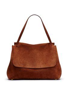 Top Handle 14 Satchel Bag, Saddle - THE ROW