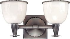 Hudson Valley Lighting 3882-AN Guilford 2-Light Vanity Fixture, Antique Nickel Finish with White Glass - - Amazon.com