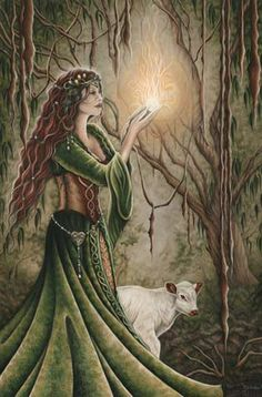 CELTIC GODDESS BRIGHID In many traditions of Paganism, the Celtic goddess Brighid is celebrated at Imbolc. A protector of hearth and home, Brighid is a fire goddess who is typically associated with… Celtic Goddess, Celtic Mythology, Goddess Art, Brighid Goddess, Green Goddess, Sacred Feminine, Celtic Art, Irish Celtic, Groundhog Day