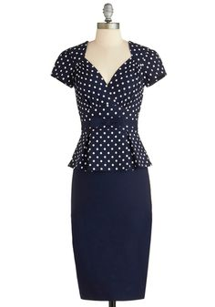 First Stop, Style! Dress, #ModCloth  I have a serious polka dot addiction.  I think I'm in love...