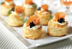 Smoked Salmon Blini Puffs.  These caterer-style appetizers are suppose to be very easy to make.  Very sophisticated.... just saying....  Recipe from Campbell's.