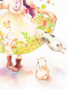 Japanese illustrator ko ko ba works ..