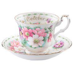 Royal Albert Flower of the Month October Teacup & Saucer