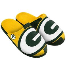 NFL Green Bay Packers Big Logo Slippers [Men's X-Large - Size 13-14 US]