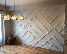 Accent Walls In Living Room, Accent Wall Bedroom, Home Living Room, Bedroom Decor, Accent Wall Designs, Home Interior Design, Interior Decorating, Home Upgrades, Home Decor Wall Art