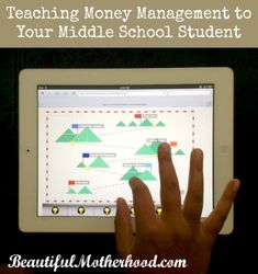 Teaching Money Management to Your Middle School Student :: The Budgeteer App is an amazing tool to teach your middle school or high school student about personal finance in your #homeschool. :: Beautiful Motherhood