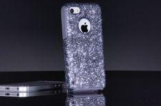 iPhone 5c Case - Otterbox Custom Smoke Glitter - Otterbox Commuter iPhone 5c Sparkly Bling Glitter Case for Drissa