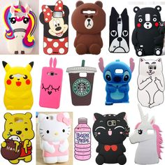 cute animals cartoon soft silicone case cover back for samsung galaxy ph Galaxy Phone Cases, Phone Cases Samsung Galaxy, Iphone Cases, Iphone Phone, Pop Socket, Hipster Cafe, Iphone 7 Plus, Cute Gif, Smartphone